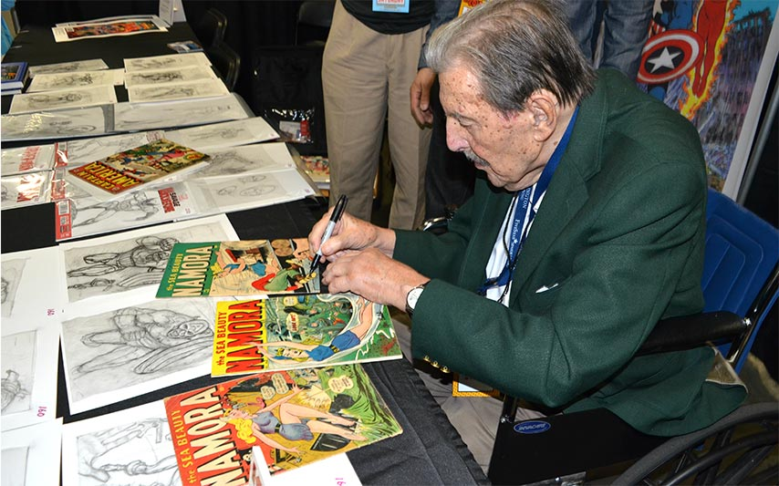 Oldest artist to illustrate a comic book cover