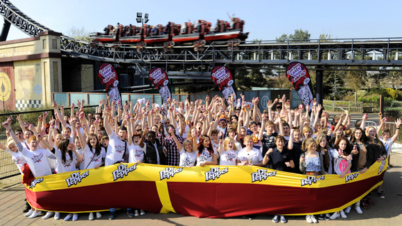 Video: Dr Pepper sets record for most people in one pair of underpants at Thorpe Park
