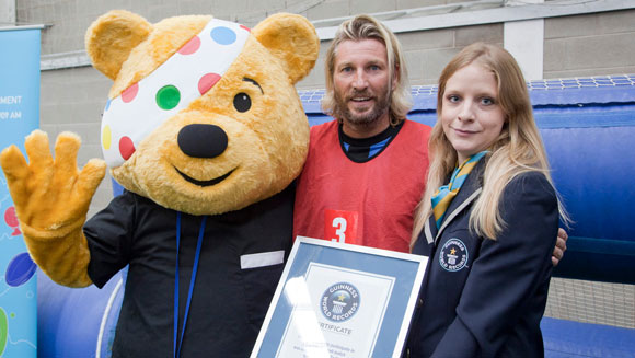 Robbie Savage helps set new 5-a-side football world record