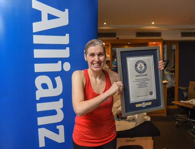 Sinead Kane with her Guinness World Records certificate
