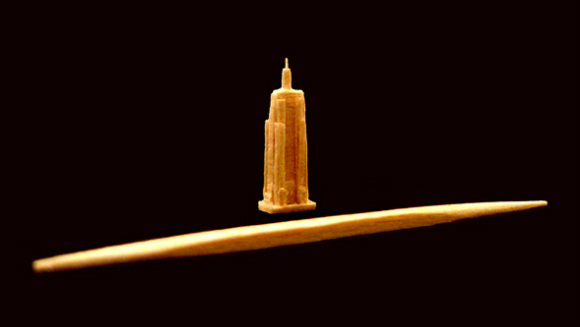 Video: Steven J. Backman and the world's smallest toothpick sculpture