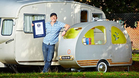 Video: Take a ride in the world's smallest caravan