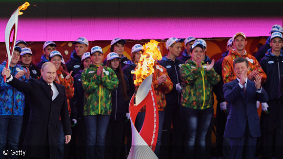 How does Sochi Winter Olympics torch relay compare to other record distances?
