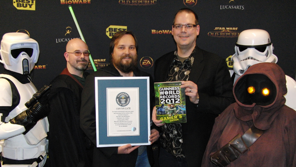 Star Wars: The Old Republic Recognised Guinness World Records 2012 Gamer's Edition