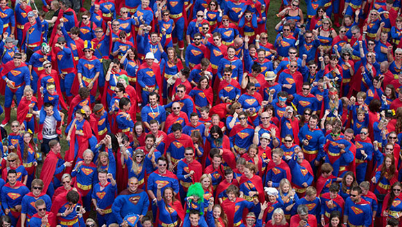 Escapade break largest gathering of people dressed as Superman record at Kendal Calling music festival