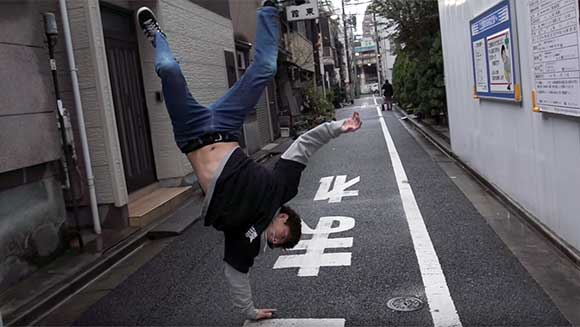 Video: Japanese breakdancing champion takes on hand hops world records