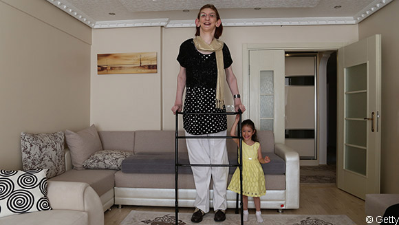 Turkey's Rumeysa Gelgi is awarded the title of tallest teenager (female) in the world