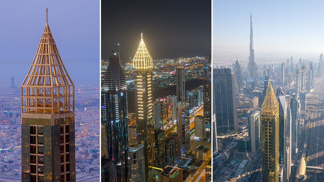 Video dubai s 75 storey gevora hotel is officially the for Tallest hotel in the world