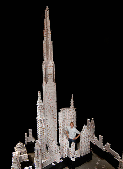 Tallest house of cards Bryan Berg