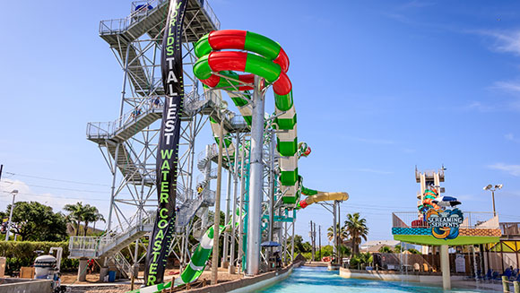US waterpark builds world's tallest water coaster
