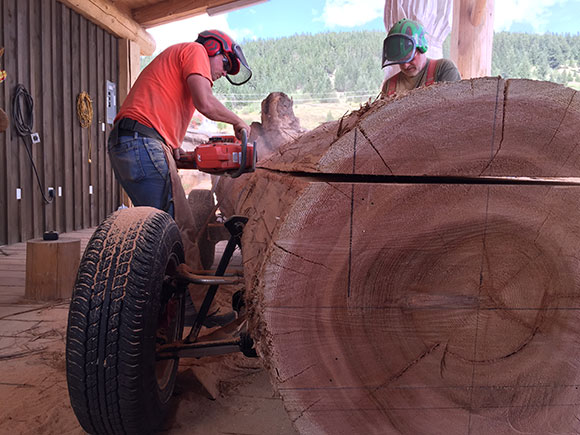 Car Created With A Single Log Of Western Red Cedar For Timber