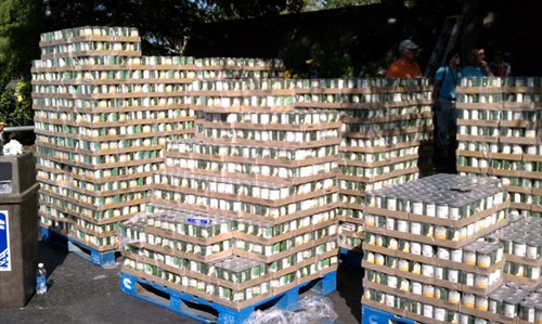 Largest Can Pyramid Built In Kansas City Guinness World