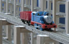 Video: Watch Thomas the Tank Engine arrive in time for Christmas on world's longest plastic toy train track