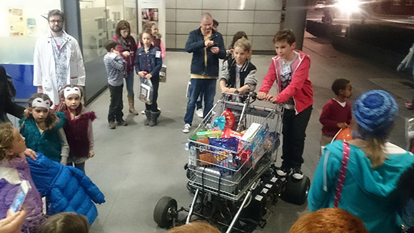 Trolley dash: Jet-powered shopping trolley helps kids celebrate at Guinness World Records 60th party