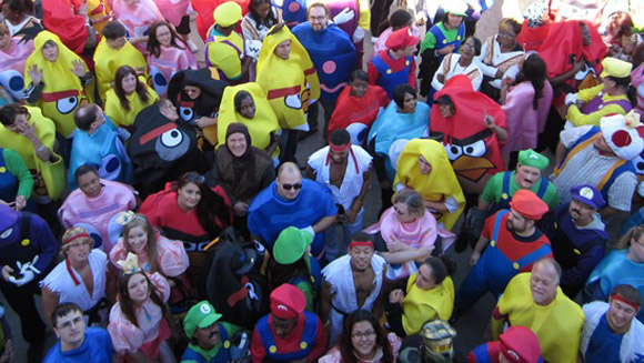 Video: Mario and Angry Birds unite to break record for most people in video game character costumes
