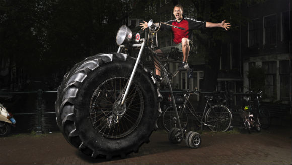 Record Holder Q+A: Wouter van den Bosch, heaviest rideable bike