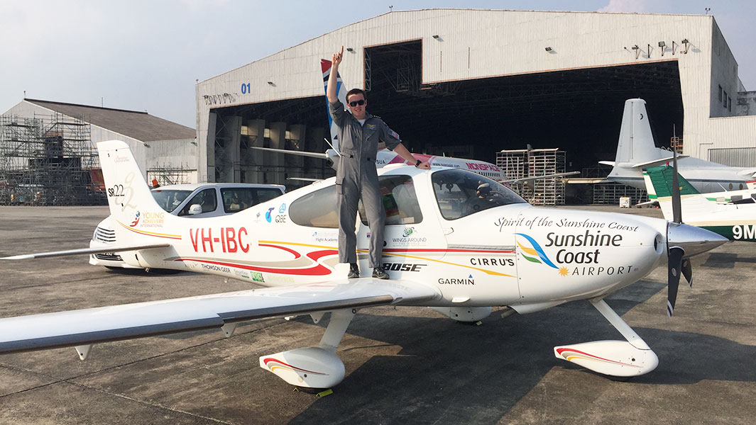 Aussie teen flies into record books for solo circumnavigation by aircraft