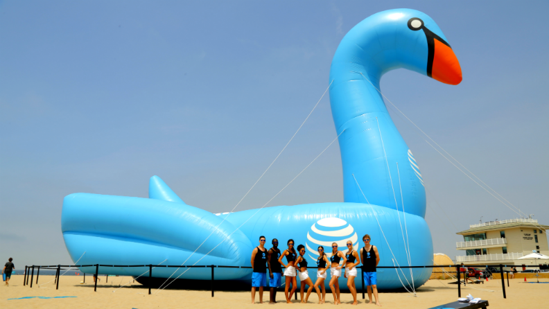AT&T and iHeartRadio make a big splash with the largest inflatable pool toy
