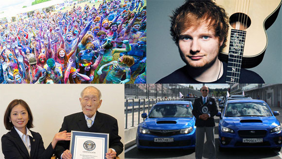 2015 in World Records - August: Guinness World Records celebrates its 60th anniversary while singer Ed Sheeran secures a chart record