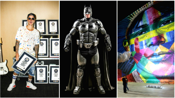 Year in World Records – August: Prolific Olympians, Stunning spray paint murals, and an incredible Batman suit