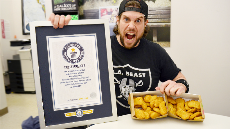 YouTube star L.A. Beast devours two speed eating world records