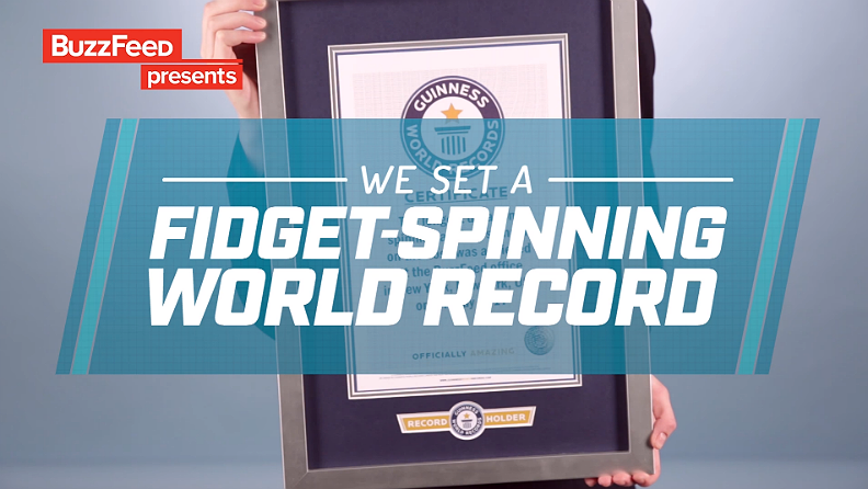 Video: Watch BuzzFeed staff take on fidget spinner world record