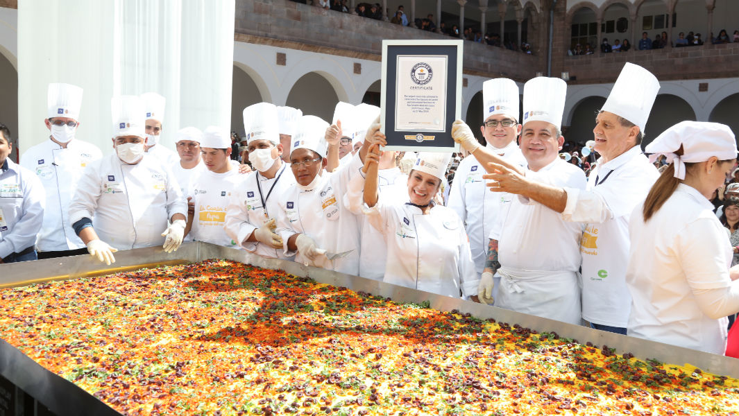 University in Peru achieves fourth big food record by cooking huge traditional causa dish