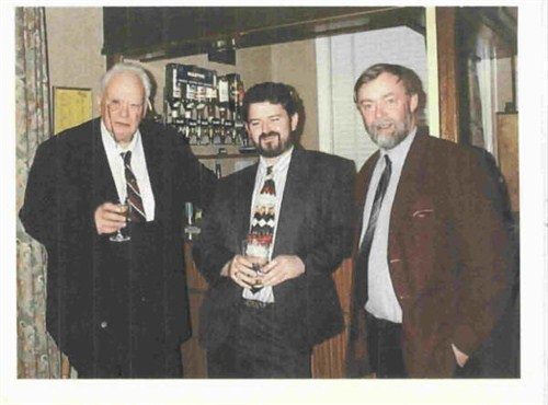 Sir Patrick Moore with friends