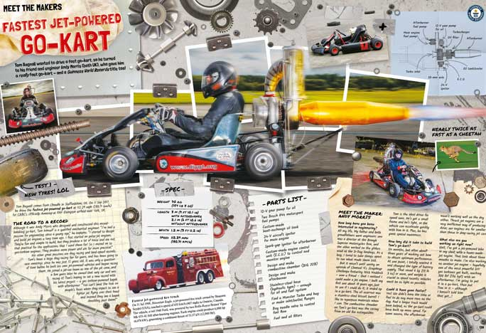 fastest jet-propelled go-kart spread
