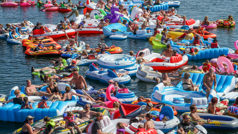 Line of water inflatables in Canada leads to buoyant new record title