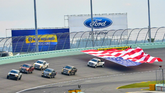 Largest banner flown by a vehicle Ford 3