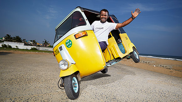Record Holder Profile Video: Watch Jagathish M achieve the furthest side-wheelie on an auto rickshaw
