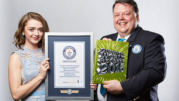Maisie Williams overjoyed as Game of Thrones marches into Guinness World Records 2016