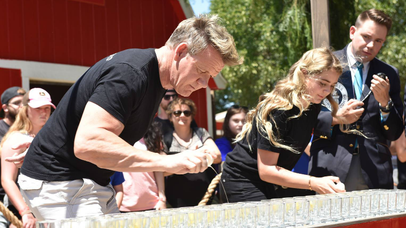 Gordon Ramsay cracks into another record attempt on the latest episode of The F Word