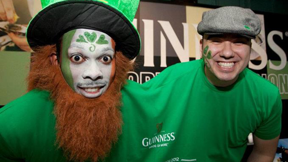 Guinness fans help celebrate St Patrick's Day with world record double