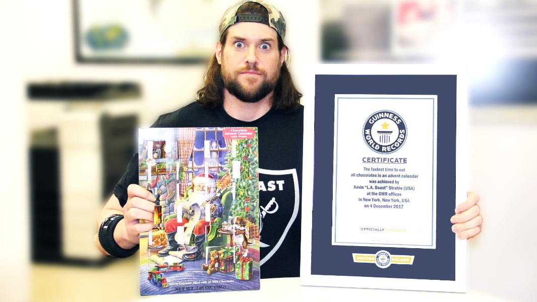 Christmas comes early for speed-eater L.A. Beast as he chomps his way to a new record