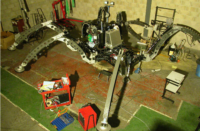 hexapod under construction