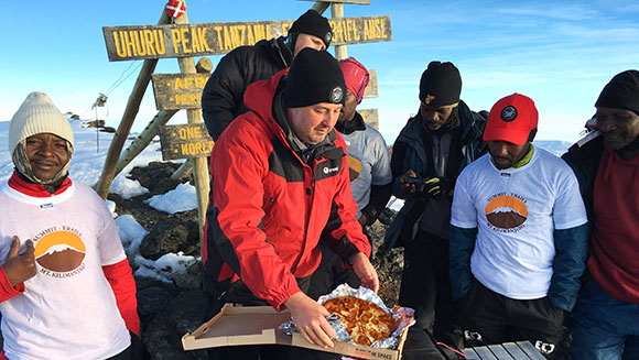 Pizza Hut makes delivery to top of Mount Kilimanjaro to earn Guinness World Records title