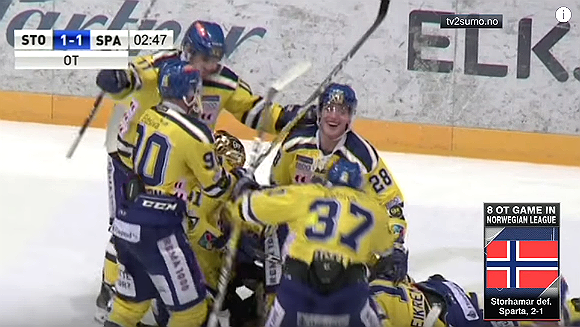 Norwegian ice hockey teams play out world's longest professional match