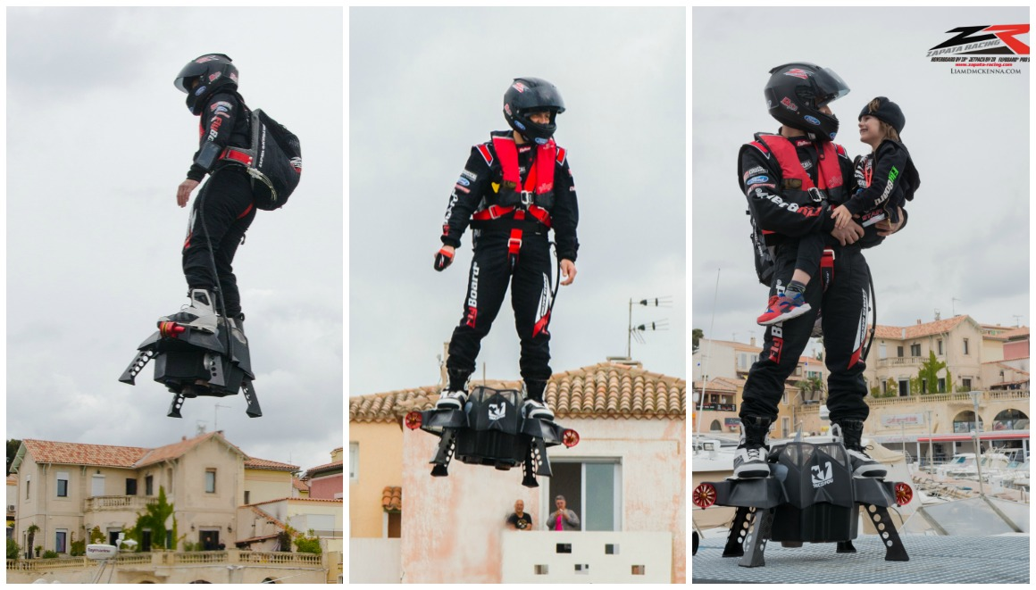 Confirmed: Franky Zapata sets new Farthest hoverboard flight record in France