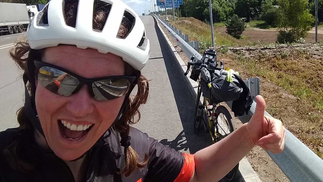British woman cycles round the world unsupported in four months to set circumnavigation record