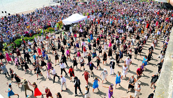 Bexhill town swings into the record books by performing the largest Charleston dance