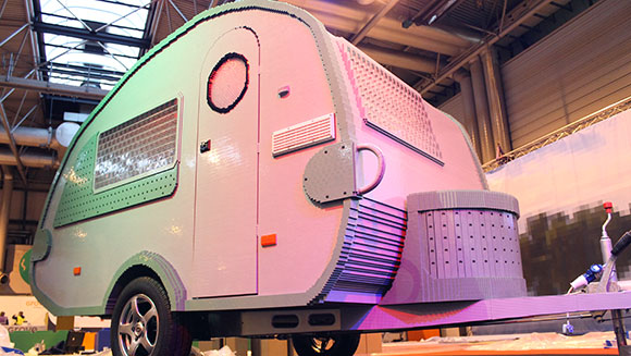 Fully-functioning life-sized caravan built entirely from LEGO bricks sets new record