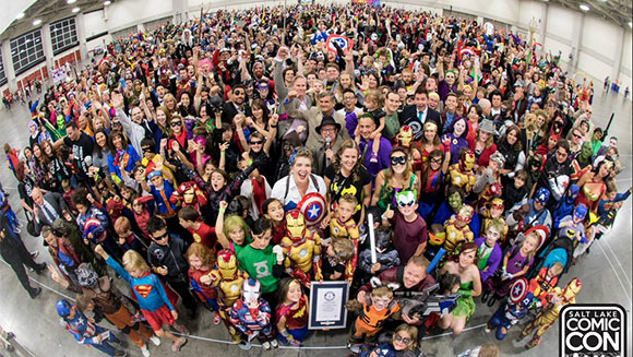 Hundreds of costumed comic fans break record at Salt Lake Comic Con