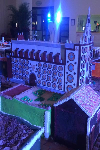 Largest gingerbread village area