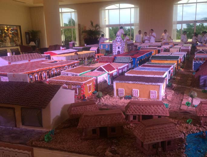 Largest gingerbread village by area