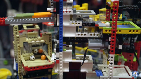 Video: Watch mesmerising great ball contraption smash world record at LEGO event BRICK