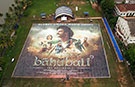 Largest poster ever - watch incredible drone footage of super-sized promo for Indian film Baahubali