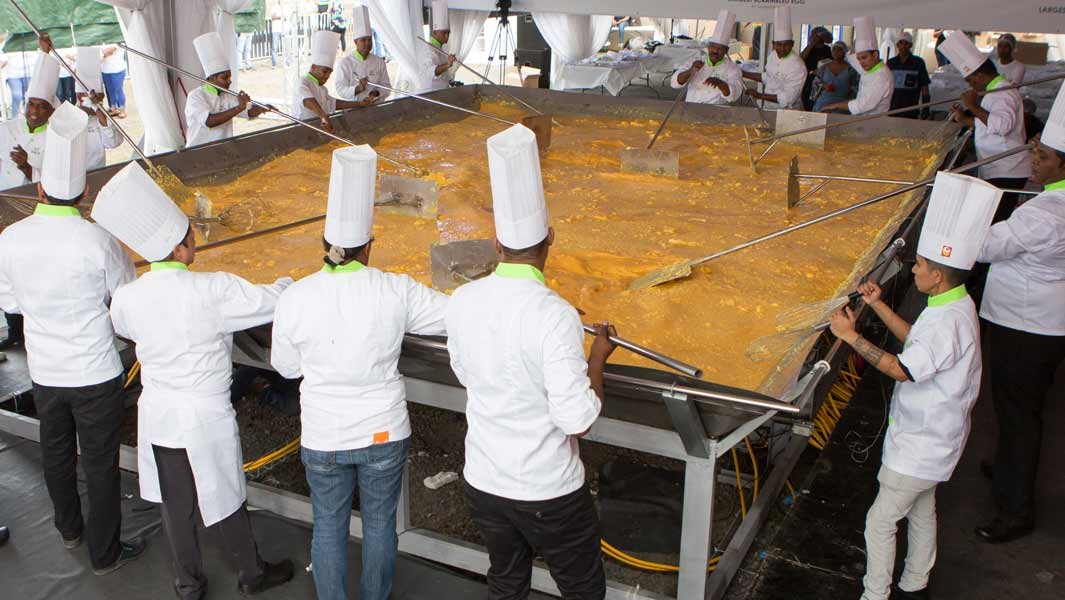 Largest scrambled eggs ever made weighs more than two tonnes