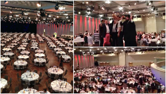 Record-breaking Shabbat dinner at the European Maccabi Games is shared by 30 nations